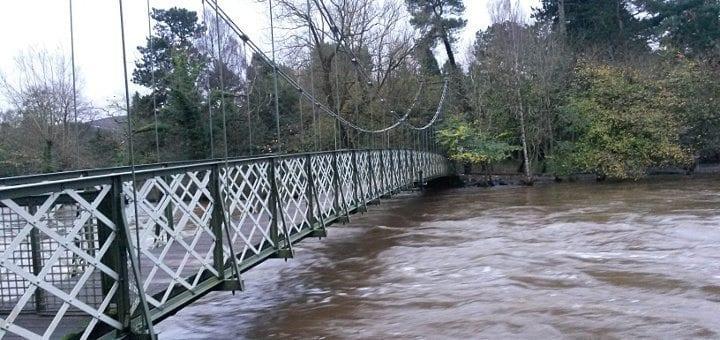 The Wharfe after heavy rain