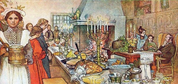 Julaftonen by Carl Larsson 1904